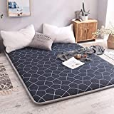 LoveHouse Futon Mattress topper,Cotton Tatami floor mat Anti-slip Folding Mattress Breathable skin-friendly mat
