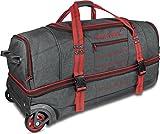 normani Reisetasche mit Rollen und großem Stauraum - mit Trolley-Funktion Farbe Rot Größe 120 Liter