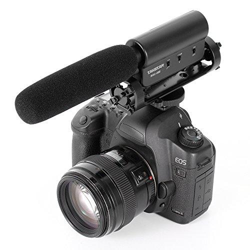Ruili Kameramikrofon Dslr Mikrofon Stereo Camcorder MIC für Nikon D300S D4 D35 D500 D800 D3200 D7000 Canon 5D 5D3 7D 550D 60D 600D 5D 650D DSLR Kamera