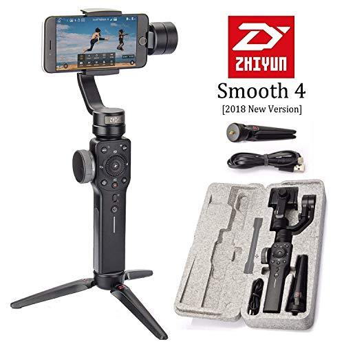 Zhiyun Smooth-4 3 Axis Handstabilisator Für Iphone 8 Plus/7 Plus/6 Plus, Samsung Galaxy S7/S6/S5 and Gopro Hero 3/4/5/6 Smartphone Bis Zu 6 Inches (New Version Smooth Q)