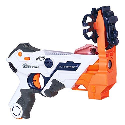 Hasbro Nerf Alphapoint - Armas de Juguete (Pistola de Juguete, 8 año(s), Niño,, plástico, Nerf Laser Ops Pro)
