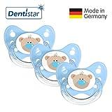 Dentistar® Schnuller 3er Set - Nuckel Silikon in Größe 1