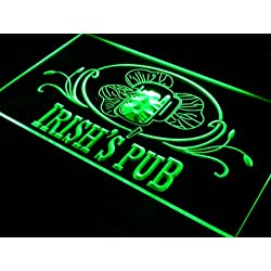 Cartel Luminoso ADV PRO s012-g Irish's Pub Bar Club Neon Light Sign