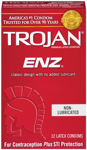 Trojan Regular nicht geschmiert X 12Kondome (Nicht Geschmiert Latex-kondomen)