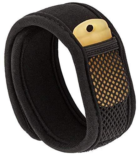 Premium bracciale anti-zanzare qumaxx, anti-insetti con due ricariche- per polso e caviglia. non contiene deet. naturale al 100%.
