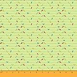 Soimoi 60 Zoll Wide Bird Print 180 GSM 2-Wege-Stretch Samt