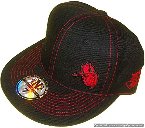Dark N' Cold Capman Lowkey Fitted Baseball Cap Black Red
