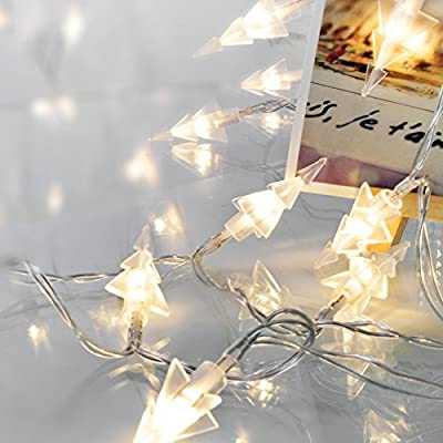 KooPower 2 x Battery Operated 40 Pine Tree LED Fairy String Lights for Christmas Xmas Wedding Party produced by Golden Battery(KooPower) - quick delivery from UK.