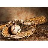 Postereck - 0505 - Baseball Handschuh Ball und Schläger - Poster 42.0 cm x 59.4 cm DIN A2