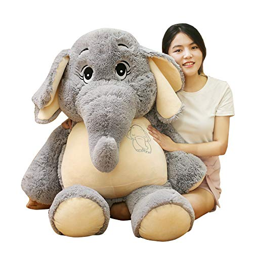 hokkk 68cm Juguetes de Peluche con Elefantes Grises Rellenos de Peluche Juguetes...