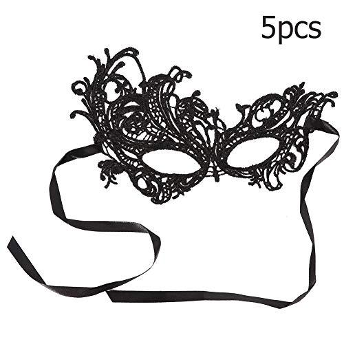Naroote 5pcs Halloween Maske, Kostüm für Prop Show Decor, Tanzmaske Lace - Guter Kerl Halloween Kostüm