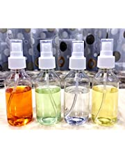 SPC Empty Plastic Transparent Refillable Fine Mist 100 ml Spray Bottle-4 Pc-White