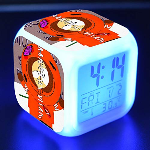 zhoudreamteam South Park Wecker South Park Attendance Park South Vier Hacker bunter LED-Licht kreativer Wecker