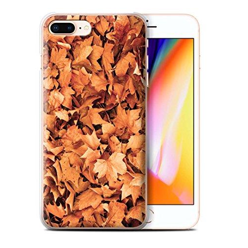 Stuff4 Hülle / Case für Apple iPhone 8 Plus / Gemischt/Violett Muster / Herbstblätter Kollektion Sykomore/Golden