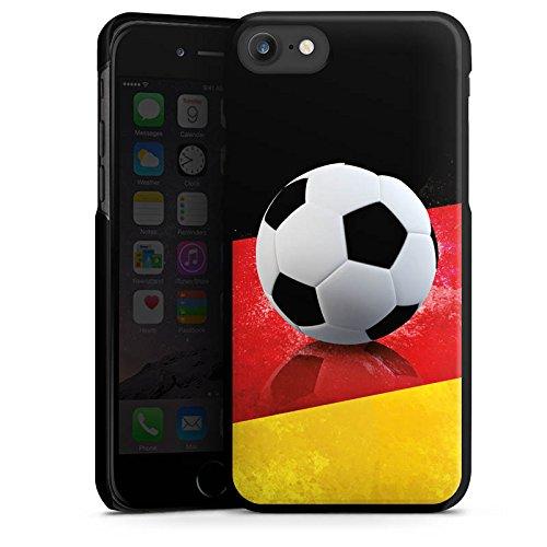 Apple iPhone X Silikon Hülle Case Schutzhülle Fussball Deutschland schwarzrotgold Hard Case schwarz