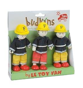 - Juego de 3 Budkins familia Feuerwehrset flexión de las muñecas de la casa de muñecas