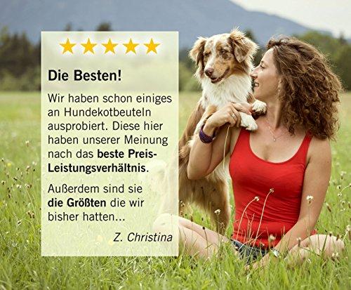 350 Hundekotbeutel ˁ°ᴥ°ˀ umweltfreundlich | biologisch abbaubare Gassibeutel-Alternative | Nachfüllpack z.B. für pooplino Hundekotbeutelspender - 4