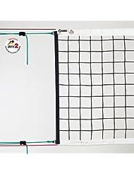 Volleyball Turniernetz DVV 2, ca. 3 mm ø, schwarz, mit Kevlarseil