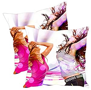 Sleep Nature's Velvet Cushion Covers Set of 2 - (Size-16x16 inches)