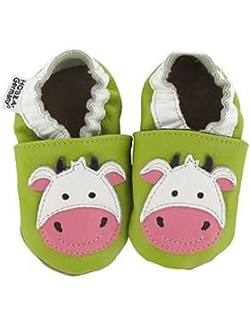HOBEA Unisex Babys Cow Krabbelschuhe