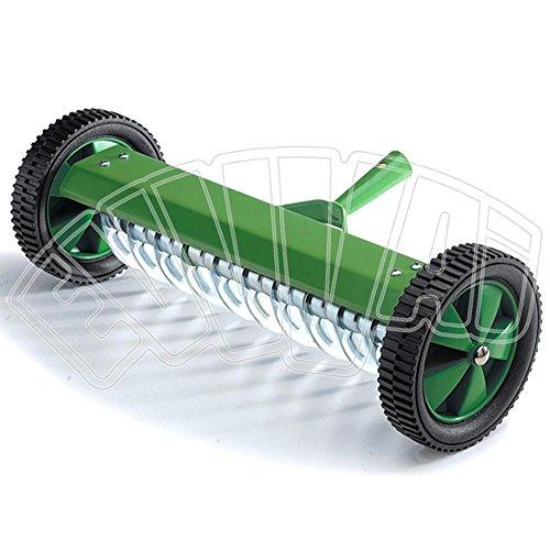 rastrello 11 denti aeratore con ruote arieggiatore per giardino prato inglese