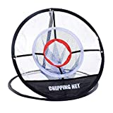 #6: TOMSHOO Portable 20 '' Golf Training Chipping Net Hitting Aid Practice Indoor Outdoor Bag