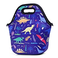 Neoprene Lunch Bag, Cute Lunch Bags for Women Kids Girls Teen Boys, Insulated Waterproof Lunch Tote Box for Work School Travel and Picnic