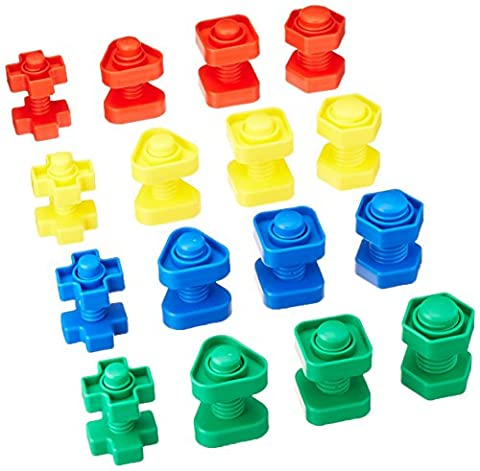 School Specialty 520848 Skill Building Nuts and Bolts Set, Plastic,
