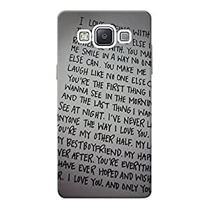 INKIF I Love Being With You Quote Designer Case Printed Mobile Back Cover for Samsung Galaxy A5 (Grey )