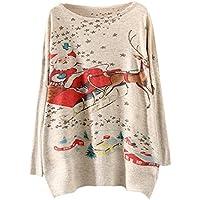 Damen Pullover Sweatshirt Ronamick Weihnachten Langarm Schläger Gestrickt Beiläufige Stricken Strickpulli Strickjacke Strickpullover Tops Bluse