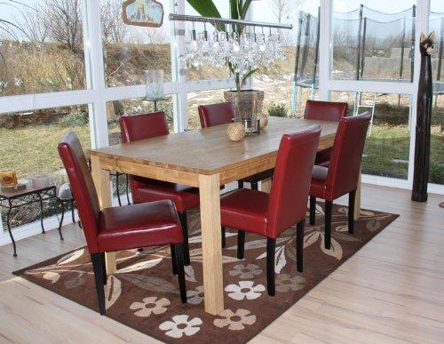 Sedie Sala Da Pranzo Ecopelle : Set sedie littau ecopelle sala pranzo cm rosso piedi