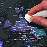 HSTV Scratch Off Weltkarte Poster Abenteuer Scratch Karte, Verfolge Deine Abenteuer,Teilen Sie Ihre Reiseerinnerungen
