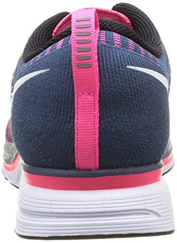 Nike, Nike Flyknit Trainer+, Scarpe sportive, Uomo Squadron Blue/White-Pink Flash