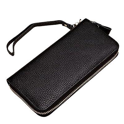 ZLR Mme portefeuille Porte-monnaie en cuir à lacets en cuir à la longue mesure