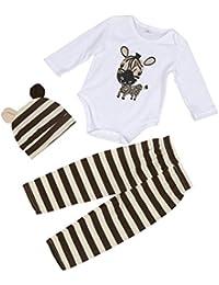 Mono bebé Amlaiworld Recién Bebé Niños niñas 3 piezas Traje Conjunto