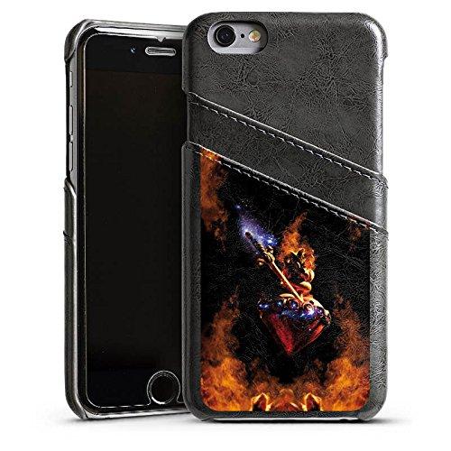 Apple iPhone 6 Housse Étui Silicone Coque Protection Épée Symbole Motif Étui en cuir gris