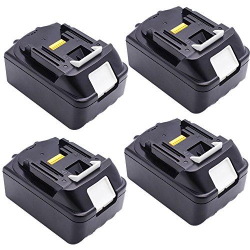 Preisvergleich Produktbild 4X 18V Batterie für Makita BL1830 BL1840 4,0 Ah (LG Zellen)