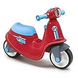 Smoby - 721003 - Porteur Enfant Scooter avec Roues Silencieuses - Rouge