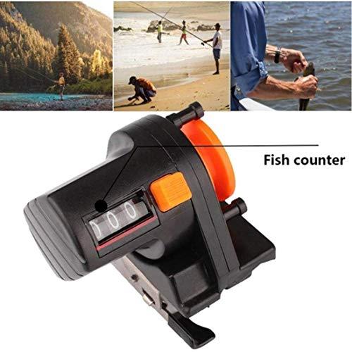 AMOYER 0-999m Fish Tackle Digital Display Pesca Línea Precisa Contador de líneas Medida Bobina Buscador de medidor de Profundidad