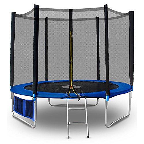 fitkraft-hoppa-outdoor-trampoln-312cm-red-trampoln-de-jardn-red-de-seguridad-accesorios-completo