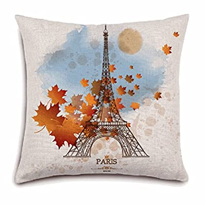 Decorie Lovely Paris Eiffel Tower Design Cushion Cover for Sofa Bed Home Decor produced by Decorie - quick delivery from UK.