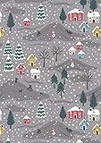 Lewis & Irene Weihnachts-Stoffe, Schneetag, 100% Baumwolle