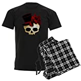 CafePress - Cute Gothic Skull In Top Hat - Unisex Novelty Cotton Pajama Set, Comfortable PJ Sleepwear