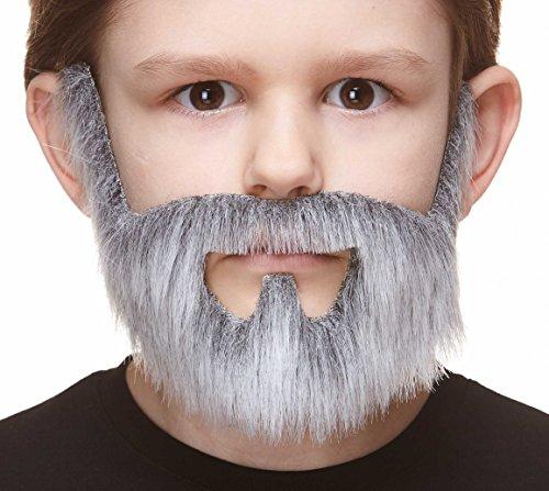 Mustaches Selbstklebende Kleiner On Bail Fälschen Bart für Kinder Grau mit Weiß Farbe