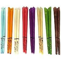 Preisvergleich für 10 Ohrkerzen Sunglow® Konisch 8 Farben (5 Paar) mit Sicherheitsfilter (Mix (bunt))