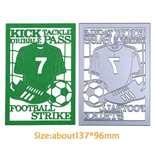 Wanfor Fußball Metall Stanzformen Schablone DIY Scrapbooking Präge Papier Karte Dekor -
