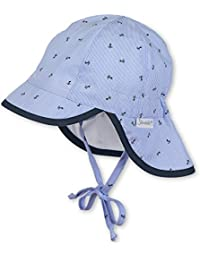 Sterntaler Schirmmütze für Jungen mit Bindebändern, Nackenschutz und Anker-Motiv