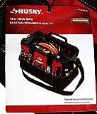 Husky GP-4444BEN13 600 Denier Bolsa de herramientas y organizador de 24 pulgadas para construcción con correa para el hombro y asas