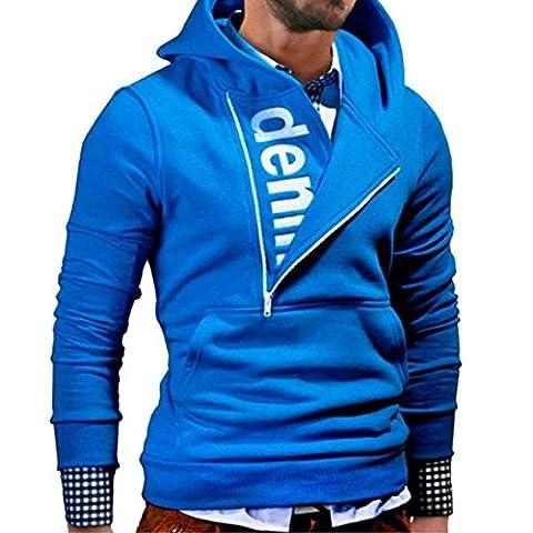 Veste Manteau Pour hommes, Malloom Manche longue Sweat à capuche à capuche Tops (3XL, Bleu)