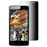 atFolix Blickschutzfilter für Ulefone Be Pure Lite Blickschutzfolie - FX-Undercover 4-Wege Sichtschutz Displayschutzfolie